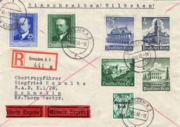 Toller Eilboten R - Brief Deutsches Reich Mit Sondermarken - Sin Clasificación