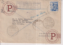 Sobre Con Marca Correspondencia Oficial. Exenta De Censura. Secretaría Militar Jefe Del Estado A DAGUERE  GUERRA CIVIL - 1931-50 Covers