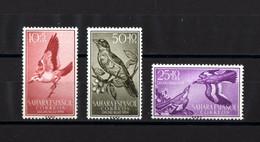 Sakhara Spanish, 1958, Singing Birds, 3 Stamps - Sperlingsvögel & Singvögel