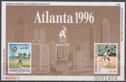 1996 Olympics Bolivia S/S  MNH Tennis - Verano 1996: Atlanta