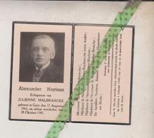 Alexander Nuytens-Malbrancke, Gent 1862, 1941. Foto - Avvisi Di Necrologio