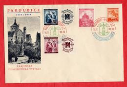 Brief Deutsches Reich Böhmen Und Mähren Pardubice - Sectores De Coordinación