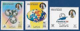 BAHRAIN MNH 1998 FRANCE 98 WORLD CUP FOOTBALL BALL MAP - Bahreïn (1965-...)