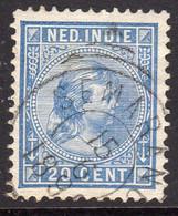 Netherlands Indies 1892-7 Wilhelmina Definitives 20c Value, P. 12½, Used, SG 97 (A) - Indie Olandesi