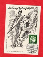 Propaganda Karte Deutsches Reich Im Kampf Um Die Freiheit - Zonder Classificatie
