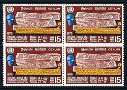 Ceilán Nº 424 (bloque-4) Nuevo - Sri Lanka (Ceylon) (1948-...)