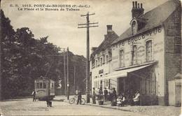 62.Pont De Briques - Environs De Boulogne Sur Mer - La Place Et Le Bureau De Tabacs - Tramway -  E.S 1013 - Autres Communes