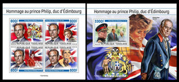 Togo 2021 Tribute To Prince Philip. (232) OFFICIAL ISSUE - Königshäuser, Adel