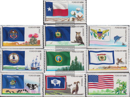U.S. 4869-4878 (complete Issue) Unmounted Mint / Never Hinged 2012 Flags The United States - Unused Stamps