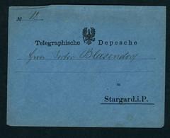 Norddeutscher Bund Telegraphische Depesche Stargard 1862 - Norddeutscher Postbezirk