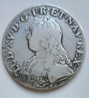 ECU Aux Branches D'olivier LOUIS XV 1726 O RIOM - 1715-1774 Louis XV Le Bien-Aimé