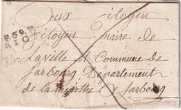 FRANCE LETTRE DE RIOZ SANS CORRESPONDANCE - 1801-1848: Precursori XIX