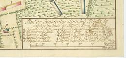 Terheijden Breda War Austrian Succession Erbfolgekrieg Manuskriptplan 1743 1746 Hannover Österreich Armee Brückmann - Geographical Maps
