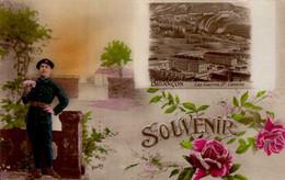 BRIANCON      ( HAUTES ALPES )    SOUVENIR _ LES CASERNES STE-CATHERINE - Gruss Aus.../ Gruesse Aus...
