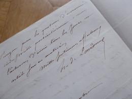 Honoré De LOURDOUEIX (1787-1860) Journaliste ROYALISTE. Abbé GENOUDE. Gazette De France. AUTOGRAPHE - Autographs