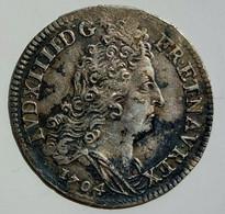 FRANCE LOUIS XIV 10 Sols Aux Insignes 1704 A - 1643-1715 Louis XIV. Le Grand
