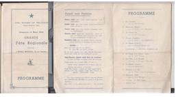 SCOUT Programme Fête Régionale  Girl Guides  1949 - Scoutisme
