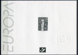 2000 Velletje Kerstmis En Nieuwjaar - 3 Talige Droogstempel De Post - EUROPA   J.P. Cousin - - Zwarte/witte Blaadjes