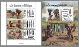 GUINEA REP. 2021 MNH Prehistoric Humans Prähistorische Menschen Humains Prehistoriques M/SS/S - OFFICIAL ISSUE - DHQ2130 - Prehistorie