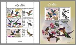 GUINEA REP. 2021 MNH Hummingbirds Kolibris Colibris M/S+S/S - IMPERFORATED - DHQ2130 - Hummingbirds