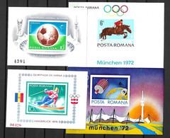 Roumanie Blocs-feuillets YT N° 95, N° 99, N° 114A Et N° 123A Neufs ** MNH. TB. A Saisir! - Blocs-feuillets