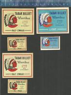 BILLIET WERVIKSE TABAK ( INDIANEN CHIEF NATIVE AMERICANS TOBACCO TABAC )   - MATCHBOX LABELS BELGIUM - Scatole Di Fiammiferi - Etichette