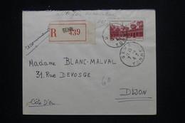 FRANCE - Enveloppe En Recommandé De Sens Pour Dijon En 1942, Affranchissement Beaune - L 101984 - 1921-1960: Moderne
