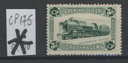 3F Locomotive  1934.    COB 175 **.  Cote. 12,50. €.   Charnière Forte - 1923-1941