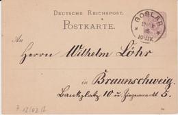 DR Ganzsache P 12 Klaucke Stempel K1 Goslar 1885 - Poststempel - Freistempel