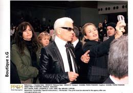 Photo Celebrité 2003 Press Presse Agency Chanel Paris Fashion Week Karl Lagerfeld MAx Bruno Mode 31x20.5cm - Famous People