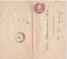 DR Ganzsache Klaucke Stempel K1 Oschersleben Aku Frühdatum 1888 - Machine Stamps (ATM)