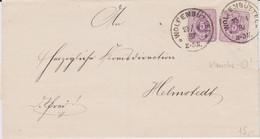 DR Pfennig Mi 40 (2) MeF Klaucke Stempel K1 Wolfenbüttel Bf 1887 - Machine Stamps (ATM)