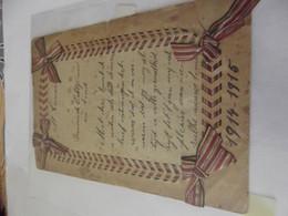 Menu Ancien 1914 1915 - Menus