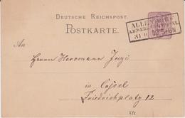 REDUZIERT DR Ganzsache P 5 Sonderform Stempel Allendorf Werra Hessen 1879 - Machine Stamps (ATM)