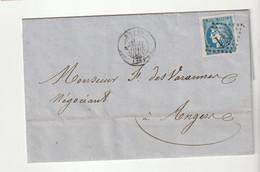 Lettre Avec Classiques De France: Cérès Bordeaux N°46B (larges Marges) + G.C. 611 Brest, 1871 - 1870 Ausgabe Bordeaux
