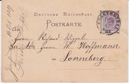 DR Pfennig Mi 40 Sonderform Stempel Gräfenthal Thüringen Kte 1887 - Machine Stamps (ATM)