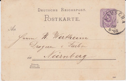 DR Ganzsache P 18 Sonderform Stempel Lauscha Thüringen 1888 - Machine Stamps (ATM)