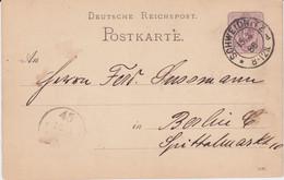 DR Ganzsache P 12 Sonderform Stempel Schweidnitz Ostgebiete 1886 - Machine Stamps (ATM)