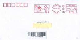 China 2021, Franking Meter, COVID-19 Oropharyngeal Swab, Circulated Cover, Arrival Postmark On Back - Briefe U. Dokumente