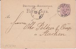 DR Ganzsache P 5 Sonderform Stempel Halle Saale 1877 - Machine Stamps (ATM)