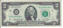 STATI UNITI - UNITED STATES - 2 US $ 2 DOLLARI  JEFFERSON - WYSIWYG  - N° SERIALE B26365538A - CARTAMONETA - PAPER MONEY - Other