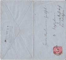 REDUZIERT DR Pfennig Mi 40 Sonderform Stempel Ra2 Dornreichenbach Sachsen Aku Bf 1885 - Machine Stamps (ATM)