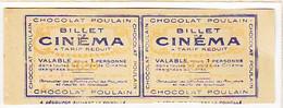 Spectacle / Billet De Cinéma Tarif Réduit / Chocolat Poulain / Nantes Omniadobrée, St-nazaire Palace Theatre - Chocolat