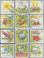 GB - Guernsey 470-481 (kompl.Ausg.) Postfrisch 1989 Weihnachten - Guernesey