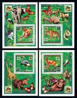 Niger 1996, Scout, Butterfly, Leopard, Snake, Elephant, Birds, Giraffes, Hippo, Monkey, 4BF - Sperlingsvögel & Singvögel