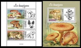 GUINEA 2021 - Mushrooms. M/S + S/S. Official Issue [GU210305] - Mushrooms