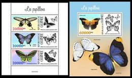 GUINEA 2021 - Butterflies. M/S + S/S. Official Issue [GU210310] - Butterflies