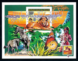 Niger 1996, Scout, Butterfly, Lion, Zebra, Ostric, Camera, IMPERFORATED BF - Ostriches