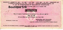 Action Titres Emprunt Serbes Ouprava Fondova Royaume Yougoslavie Or 50 1936 - W - Z