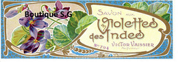 Etiquettes Savon Violettes Des Indes Victor Vaissier Parfumeur - Etichette